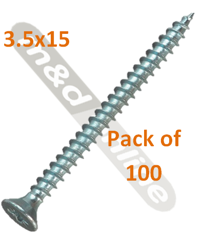 HOSPA SCREW CS GALV 3.5X15MM 015.31.6391 pack of 100