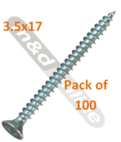 HOSPA SCREW CS GALV 3.5X17MM 015.31.6481 pack 100