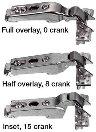 HINGE FULL OVERLAY 0MMCRANK 563.29.610 Pack of 10