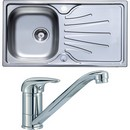 567.75.010 Single bowl sink and tap set