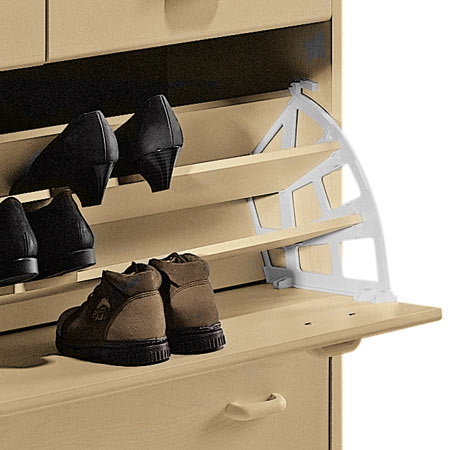 Shoe Rack Plast Whi 3 Shelves 892 14 737 89214737 163 9