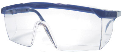 WRAPAROUND SAFETY GLASSES BLUE 007.48.092